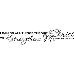 'I Can Do All Things Through Christ' Vinyl Art Quote