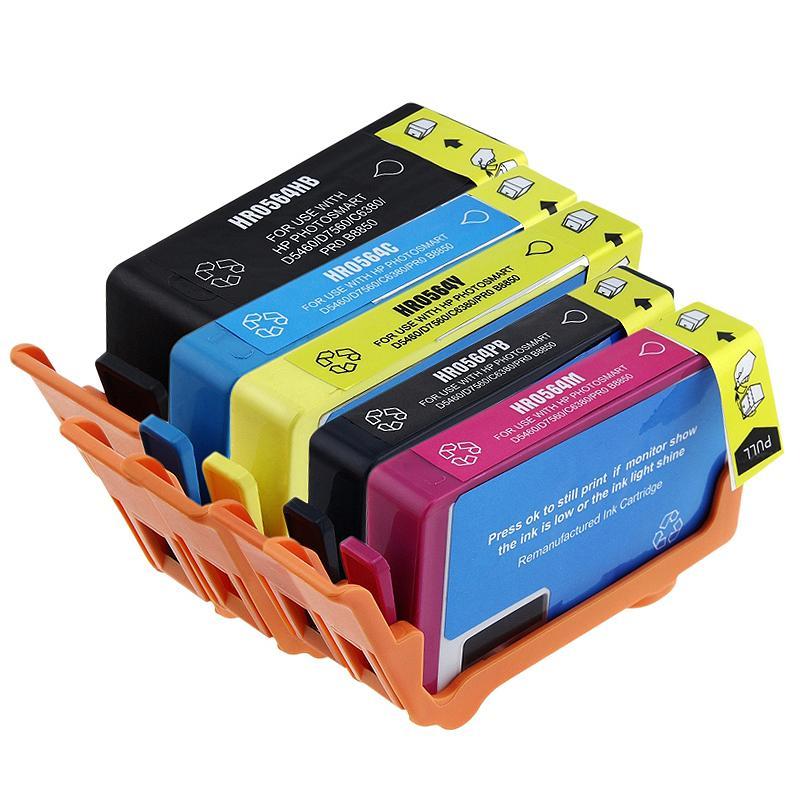 HP 564XL Black/ Color Ink Cartridges (Remanufactured) (Pack of 5)