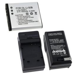 Battery/ Charger Set for Olympus Stylus Tough 6020/ 8000/ 8010