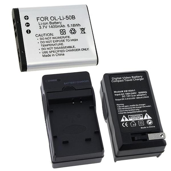 INSTEN Battery/ Charger Set for Olympus Stylus Tough 6020/ 8000/ 8010