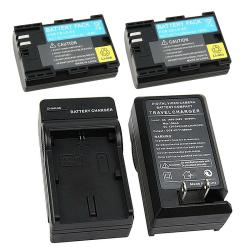 3-piece Battery/ Charger Set for Canon LP-E6/ EOS 5D/ Mark II/ 7D