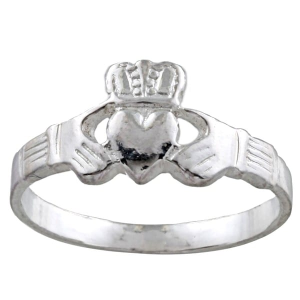 Silvermoon Sterling Silver Claddagh Ring