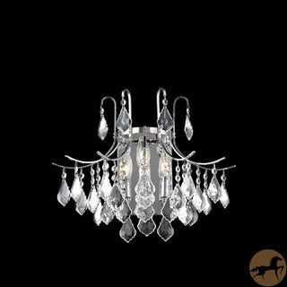 Christopher Knight Home Crystal Chrome 3-light 65013 Collection Wall Sconce