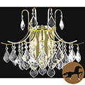 Christopher Knight Home Crystal Gold 3-light 65006 Collection Wall Sconce