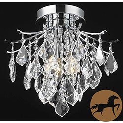 Christopher Knight Home Crystal Chrome 3-light 64979 Collection Chandelier