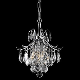 Christopher Knight Home Crystal Chrome 3-light 64931 Collection Chandelier