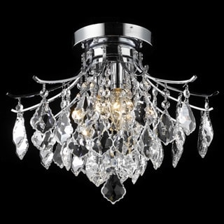 Christopher Knight Home Crystal Chrome 3-light 64993 Collection Chandelier