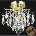 Christopher Knight Home Crystal Gold 3-light 64962 Collection Chandelier
