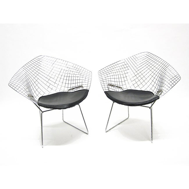 Wire Diamond Chairs (Set of 2)