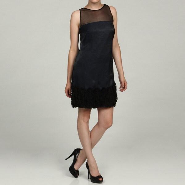 London Times Women's Shimmer Sleeveless Dress