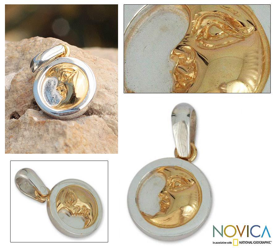 Goldplated 'Moonlight Caress' Pendant (Mexico)