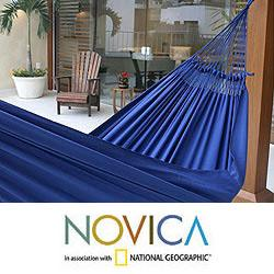 Cotton 'Ipanema Nocturnal' Hammock (Brazil)