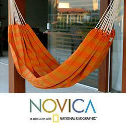Cotton 'Ceara Sunshine' Hammock , Handmade in Brazil