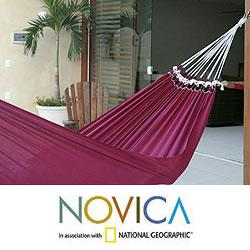 Cotton 'Ipanema Wine' Hammock (Brazil)