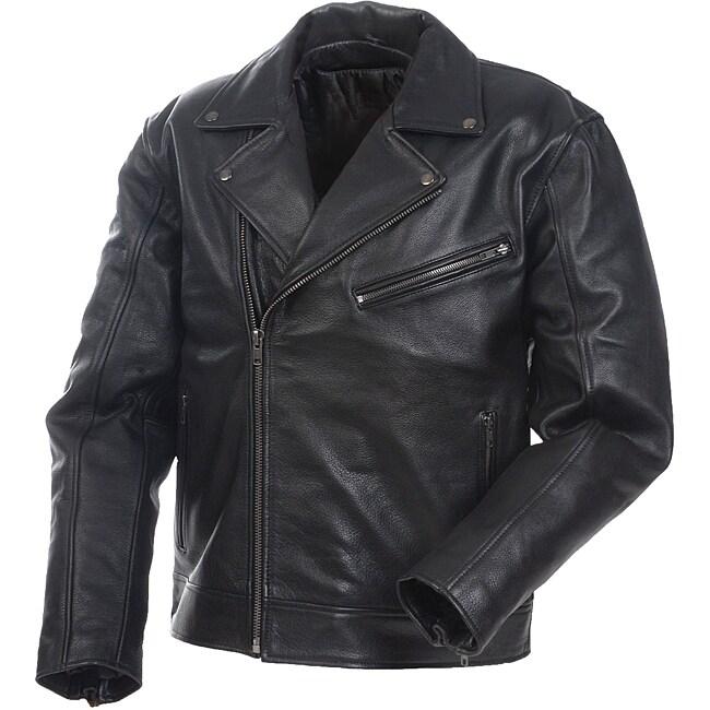 Mossi Men's 'Police' Premium Leather Jacket