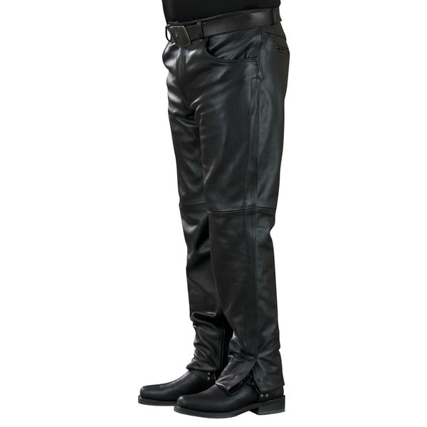 "Mossi Mens Leather Pants 32"" Inseam"