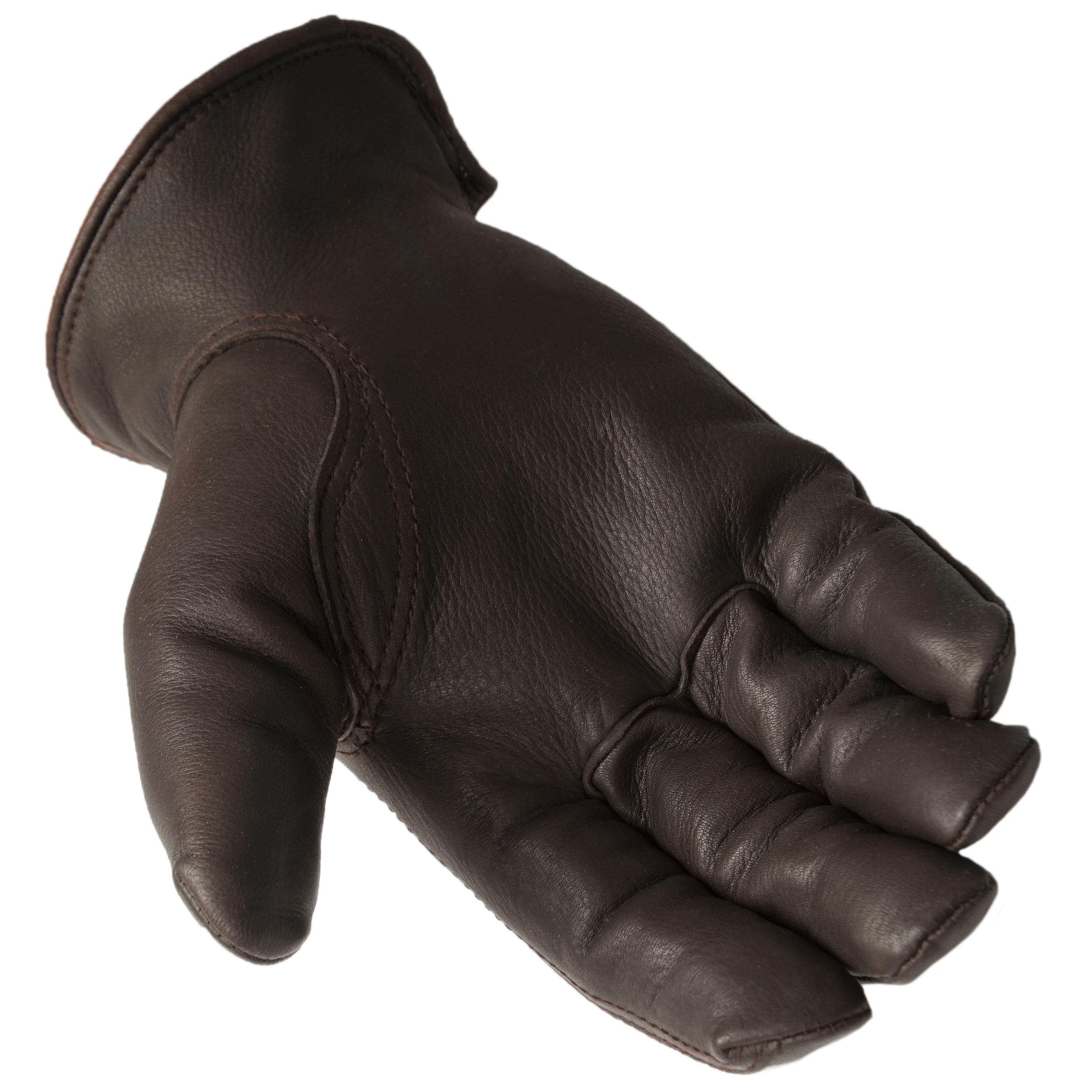 Daxx Men's Top Grain Deerskin Leather Bird Dog Print Lined Gloves