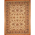 Asian Hand-tufted Ivory/ Beige Tabriz Wool Rug (8' x 11')