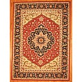 Asian Hand-tufted Rust/ Navy Heriz Wool Rug (8' x 11')