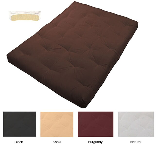 8 inch Loft Au Natural Cotton filled Twin size Futon Mattress