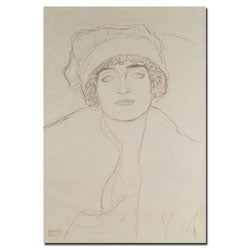 Gustav Klimt 'Portrait of a Young Woman' Gallery-wrapped Canvas Art
