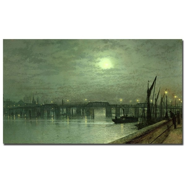 John Grimshaw 'Battersea Bridge by Moonlight' Canvas Art