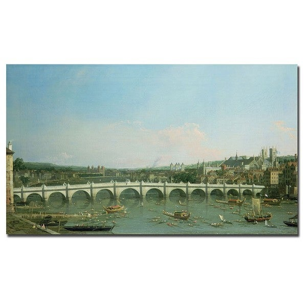 Canaletto 'Westminster Bridge' Canvas Art