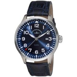Zeno Men's 6569-515Q-A4 'Navigator NG' Blue Leather Strap Quartz Watch