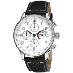 Zeno Men's P557PR-E2 'XL Retro' Automatic Chronograph Power Reserve Watch