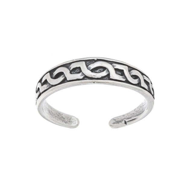 Silvermoon Sterling Silver Celtic Design Toe Ring
