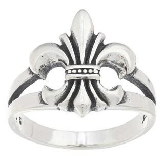 Silvermoon Sterling Silver Fleur de Lis Ring