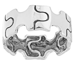 Silvermoon Sterling Silver Puzzle Band