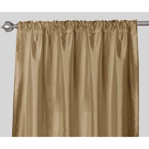 Faux Silk Rod Pocket 84 inch Curtain Panel Pair