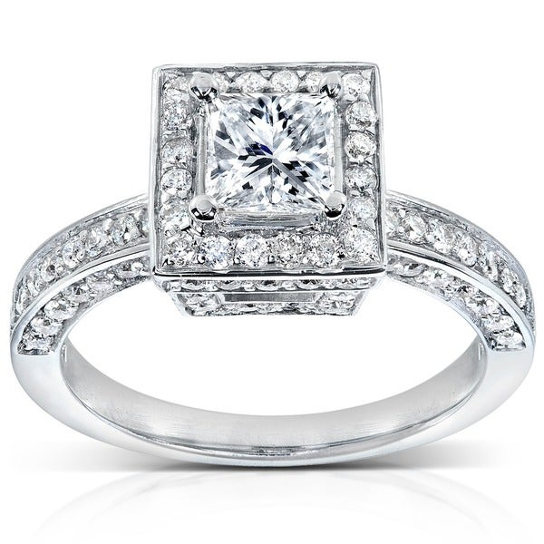 Annello by Kobelli 14k White Gold 1 1/2ct TDW Diamond Engagement Ring (H-I, I1-I2)