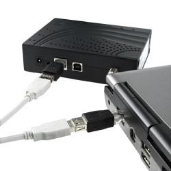 Black USB Type A to RJ-45 Ethernet Adapter F/ M