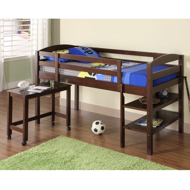 Twin Size Loft Bed with Desk 650 x 650