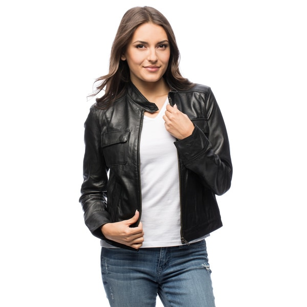 Members Only Leather Jacket Women