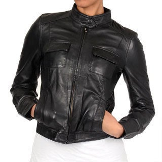 Member's Only Women's Black Sylvia Leather Jacket