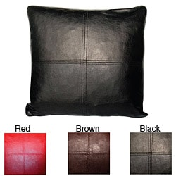 Faux Leather Decorative Down Pillows (Set of 2)