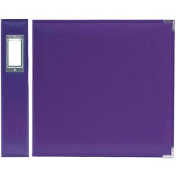 We R Memory Keepers Faux Leather Grape Soda 3-ring Binder