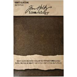 Idea-ology Glassine Dark Kraft Stash Paper Pad (36 Sheets)
