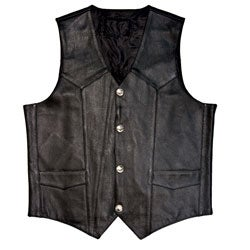 Mossi Men's Buffalo Nickel Leather Vest