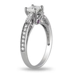 Miadora 14k Gold 1ct TDW Diamond and Pink Sapphire Engagement Ring (G-H, I2)