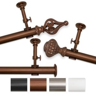 Elegant Touch 144 to 240-inch Adjustable Curtain Rod Set