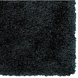 Woven Nicolet Black Shag Rug (5' x 8')