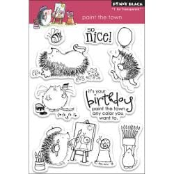 Penny Black 'Paint The Town' Clear Stamps