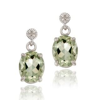 Glitzy Rocks Gemstone and Diamond Accent Earrings