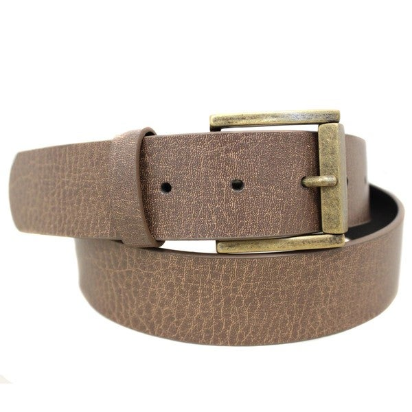 Entourage Brown Casual Square Buckle Belt