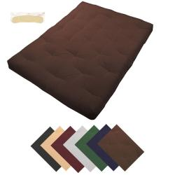 Au Natural Queen-size Cotton Filled 8-inch Futon Mattress