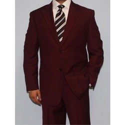 Ferrecci Men's Burgundy Two-button Suit